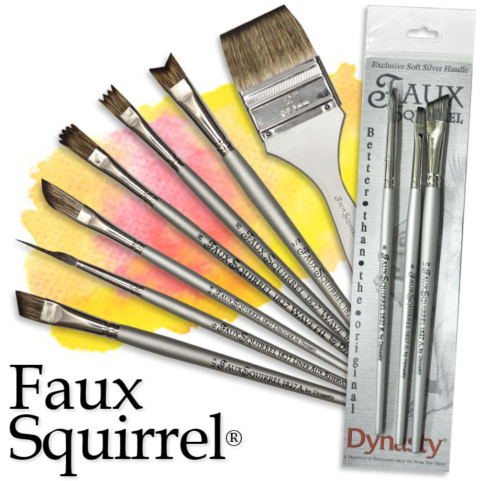 angle Dynasty Faux Squirrel Brushes 1 in