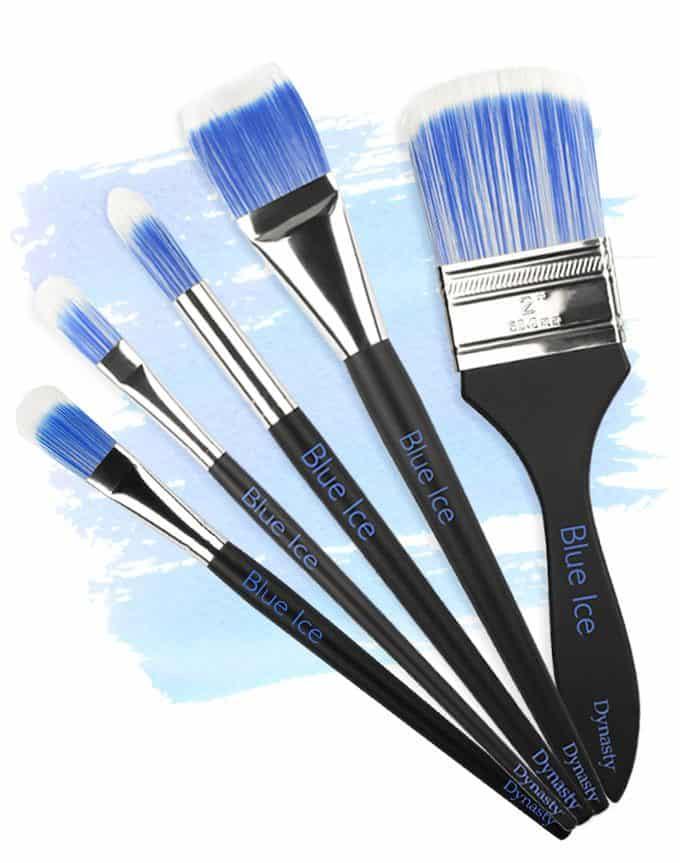 Size 1 F /& M Brush Company Dynasty Palmer Brush-Synthetic Filbert